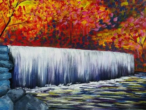 A Autumn Waterfall ii paint nite project by Yaymaker