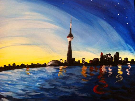A Toronto Harbour paint nite project by Yaymaker