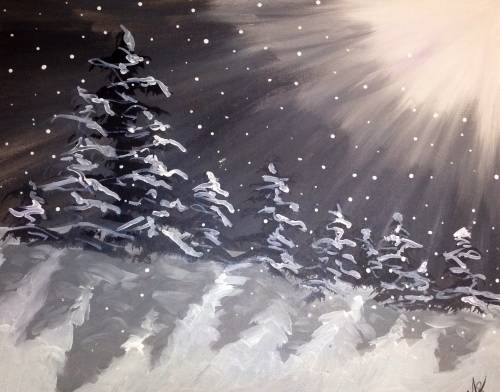A The Magic of the Season paint nite project by Yaymaker