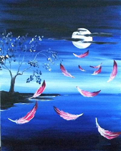 A Feathers dancing through the breeze paint nite project by Yaymaker