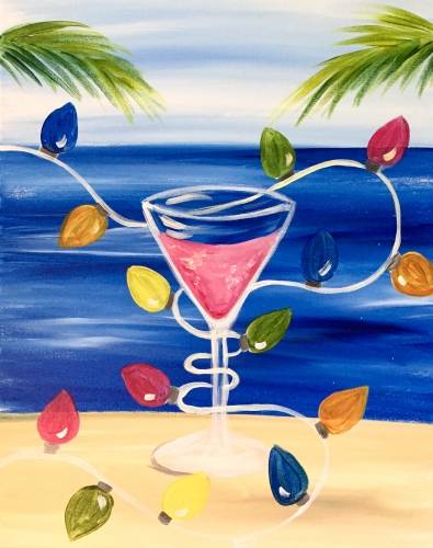 A Tropical Holiday Buzz paint nite project by Yaymaker
