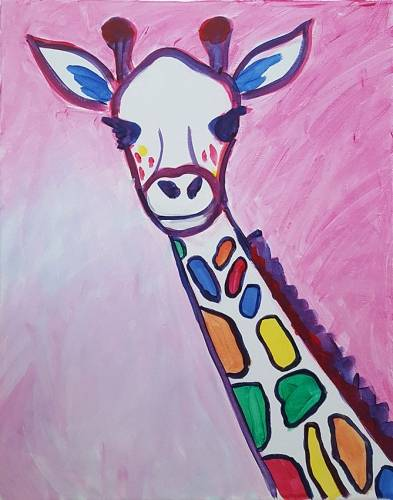 A RAINBOW The Giraffe paint nite project by Yaymaker