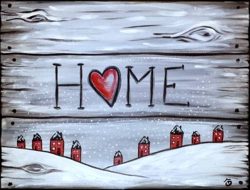 A Home 3 Sign paint nite project by Yaymaker
