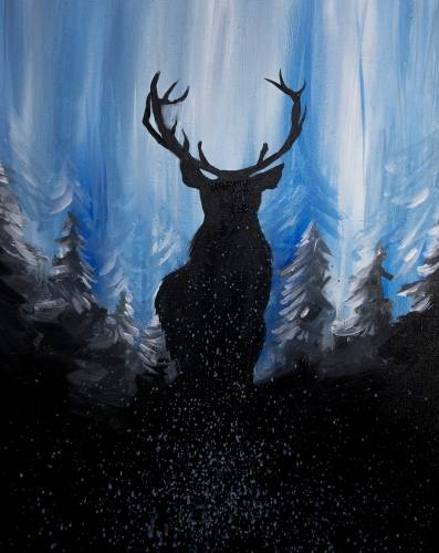 A The Aspen Deer paint nite project by Yaymaker