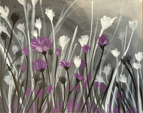 A Splash of Violet paint nite project by Yaymaker