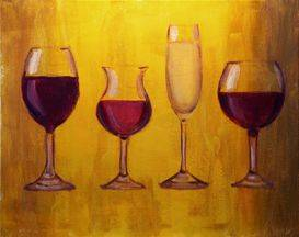 A Wine Glasses paint nite project by Yaymaker