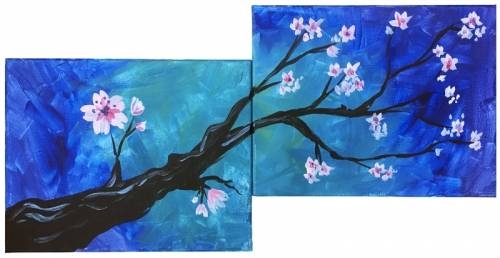 A Branch Blossoms PARTNER PAINTING paint nite project by Yaymaker