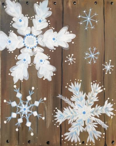 A Winter is Crate paint nite project by Yaymaker