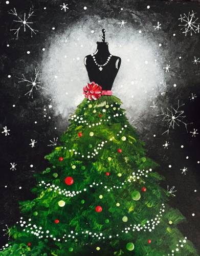 A Christmas Couture paint nite project by Yaymaker