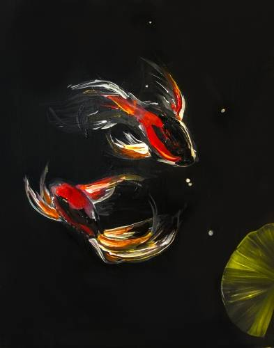 A A Koi Love paint nite project by Yaymaker