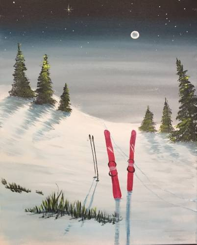 A Nite Ski paint nite project by Yaymaker