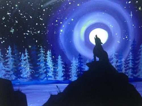 A Moon Howl paint nite project by Yaymaker