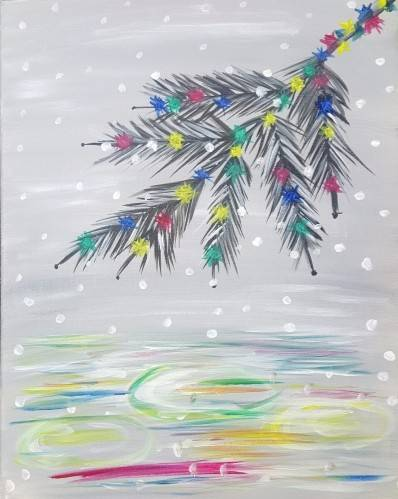 A Holiday Reflections paint nite project by Yaymaker