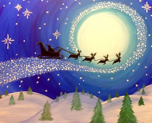 A Christmas Magic II paint nite project by Yaymaker