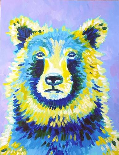 A Bear Attitude paint nite project by Yaymaker