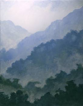 A Hazy Mountains paint nite project by Yaymaker