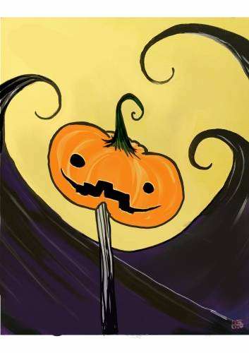 A Happy Halloween Ville paint nite project by Yaymaker