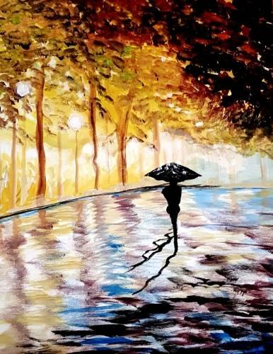A Paris Rain paint nite project by Yaymaker