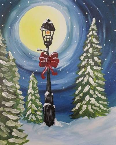 A Holiday Winter Park paint nite project by Yaymaker
