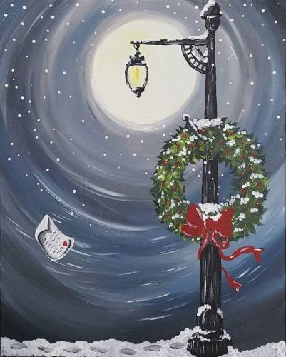 A Lost Christmas Love paint nite project by Yaymaker