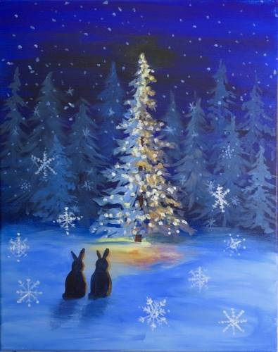 A Oh Snowy Night paint nite project by Yaymaker