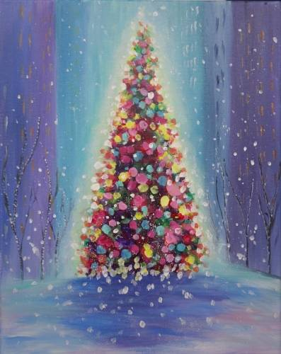 A Christmas in the City paint nite project by Yaymaker