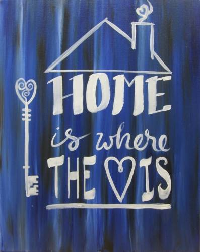 A Home is Anywhere You Are paint nite project by Yaymaker