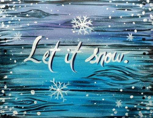 A Let it Snow paint nite project by Yaymaker