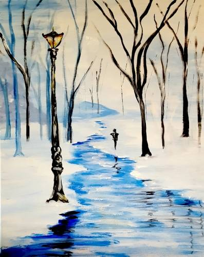A Winter in the Park paint nite project by Yaymaker