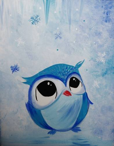 A Blues First Snow Fall paint nite project by Yaymaker