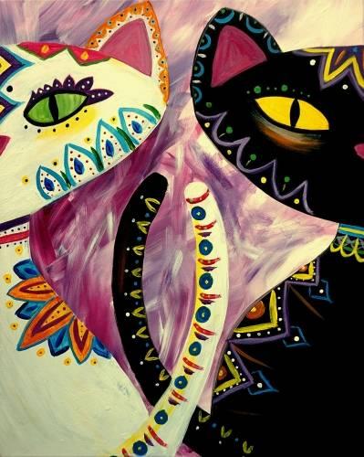 A Bohemian Catsody paint nite project by Yaymaker