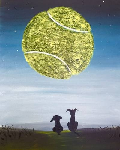 A Dogs Moon paint nite project by Yaymaker