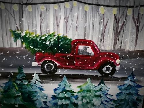 A Truckin the Tree paint nite project by Yaymaker