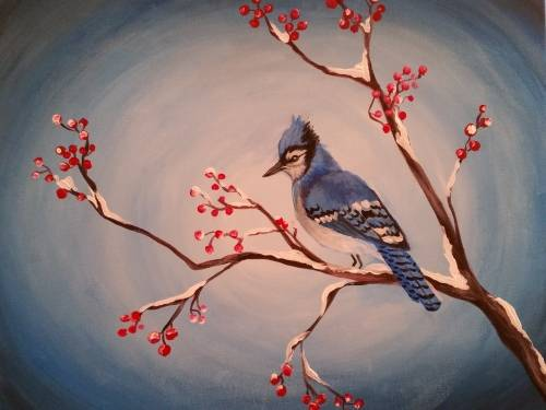 A Blue Jay Picnic paint nite project by Yaymaker
