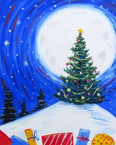 A The Jolly Christmas Tree paint nite project by Yaymaker