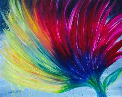 A Graffiti Flower paint nite project by Yaymaker