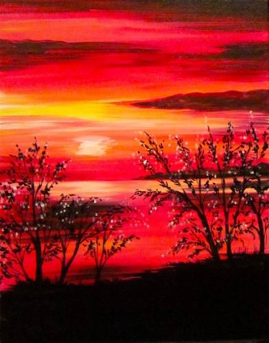 A Sunset Fire III paint nite project by Yaymaker