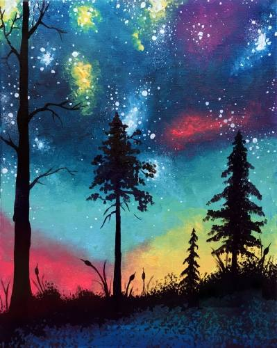 A What A Colorful World paint nite project by Yaymaker