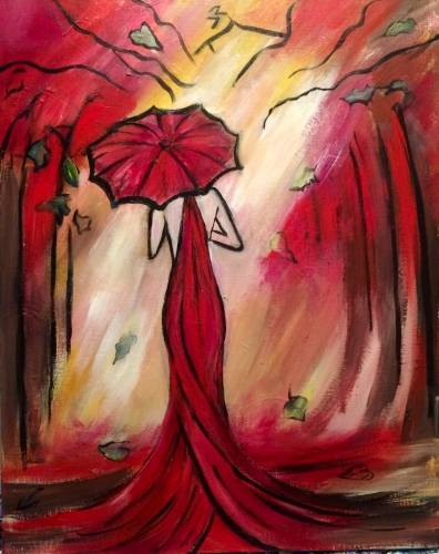 A Oh That Lady in Red paint nite project by Yaymaker