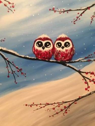 A Frosty Hooters paint nite project by Yaymaker