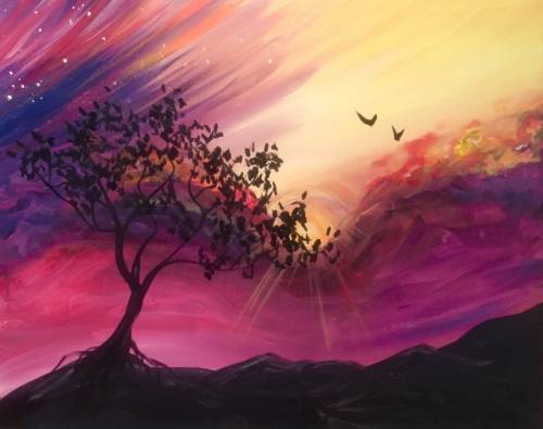 A Day Dreamer paint nite project by Yaymaker