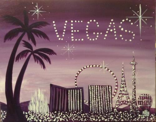 A Jewels of Vegas paint nite project by Yaymaker