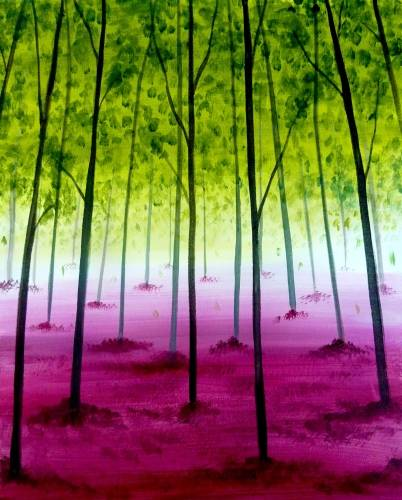 A Dreamy Forest paint nite project by Yaymaker