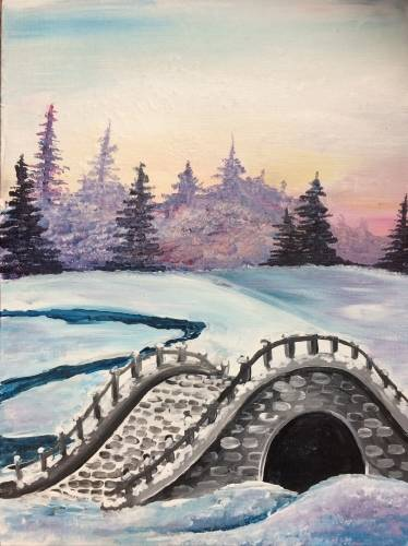A Secluded Bridge paint nite project by Yaymaker