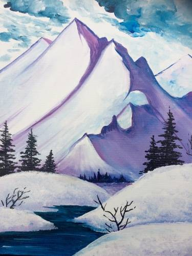 A Mountain Summit paint nite project by Yaymaker