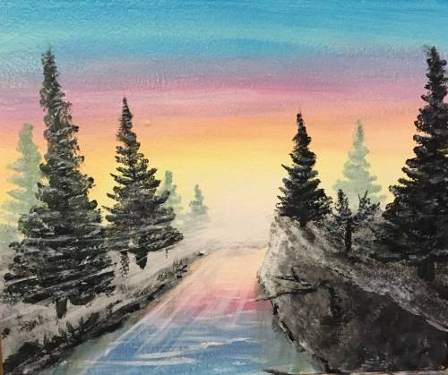 A Sunrise Pines paint nite project by Yaymaker