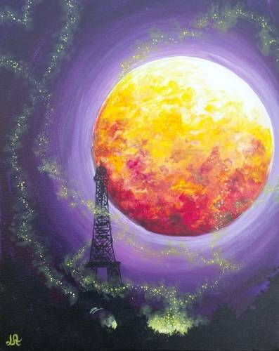 A Fireflies In Paris paint nite project by Yaymaker