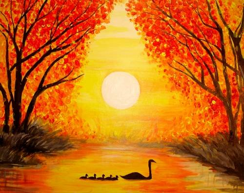 A Swan Song paint nite project by Yaymaker