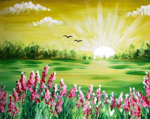 A Sun Rising paint nite project by Yaymaker