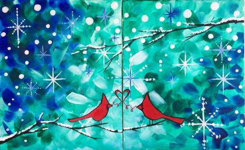 A Tis the Season to Love Partner Painting paint nite project by Yaymaker